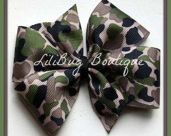 LiliBug Camo Camoflauge Hair Bow - Ready to Ship