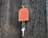 Leather Bell Key Case, Key Chain, Key Holder, Choose Your Color