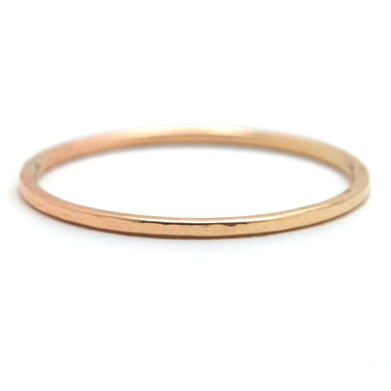 Skinny Simple Slim Stacking Ring, Simple Wedding Band - Recycled Metal
