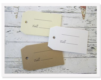Wedding Escort Tags - Table Escort Tags -Blank Escort Cards - Place Cards - Day Of Paper Goods - E001
