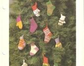 Tiny Socks and Mitts Christmas Tree Decorations - Crochet Pattern
