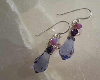 Tanzanite Crystal Drop Earrings