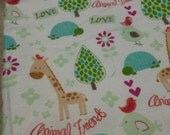 Love Animal Friends Baby Blanket