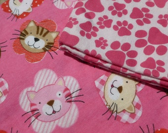 Paws and Cats Baby Blankets Set