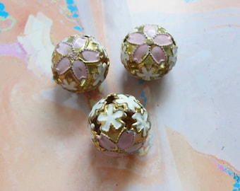 Cloisonne Bell Beads    3pc
