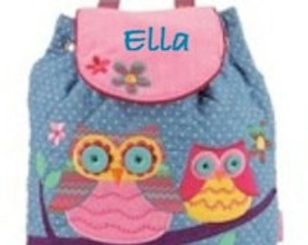 Signature Owl Stephen Joseph Toddler Backpack with Personalization
