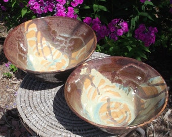 Pottery Bowls - Set of two - Handmade