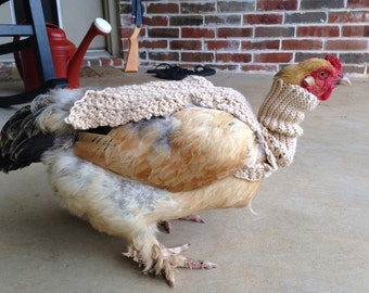 Turtleneck Half Chicken Sweater, chickens, hens, sweaters, crochet