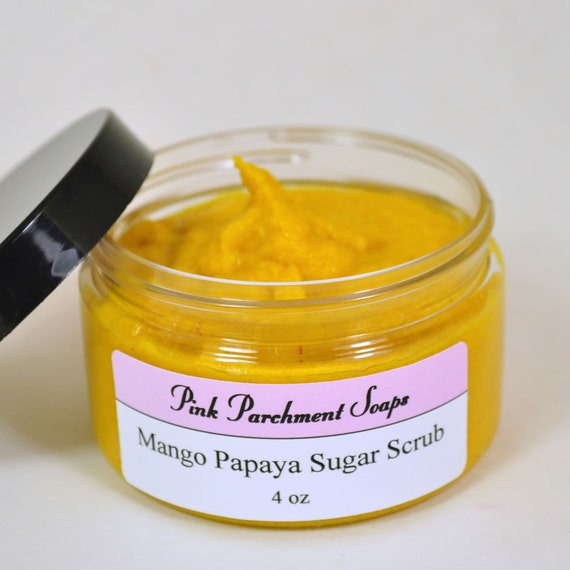Mango Papaya Sugar Scrub - All Natural - Face Scrub - Emulsified Sugar ...