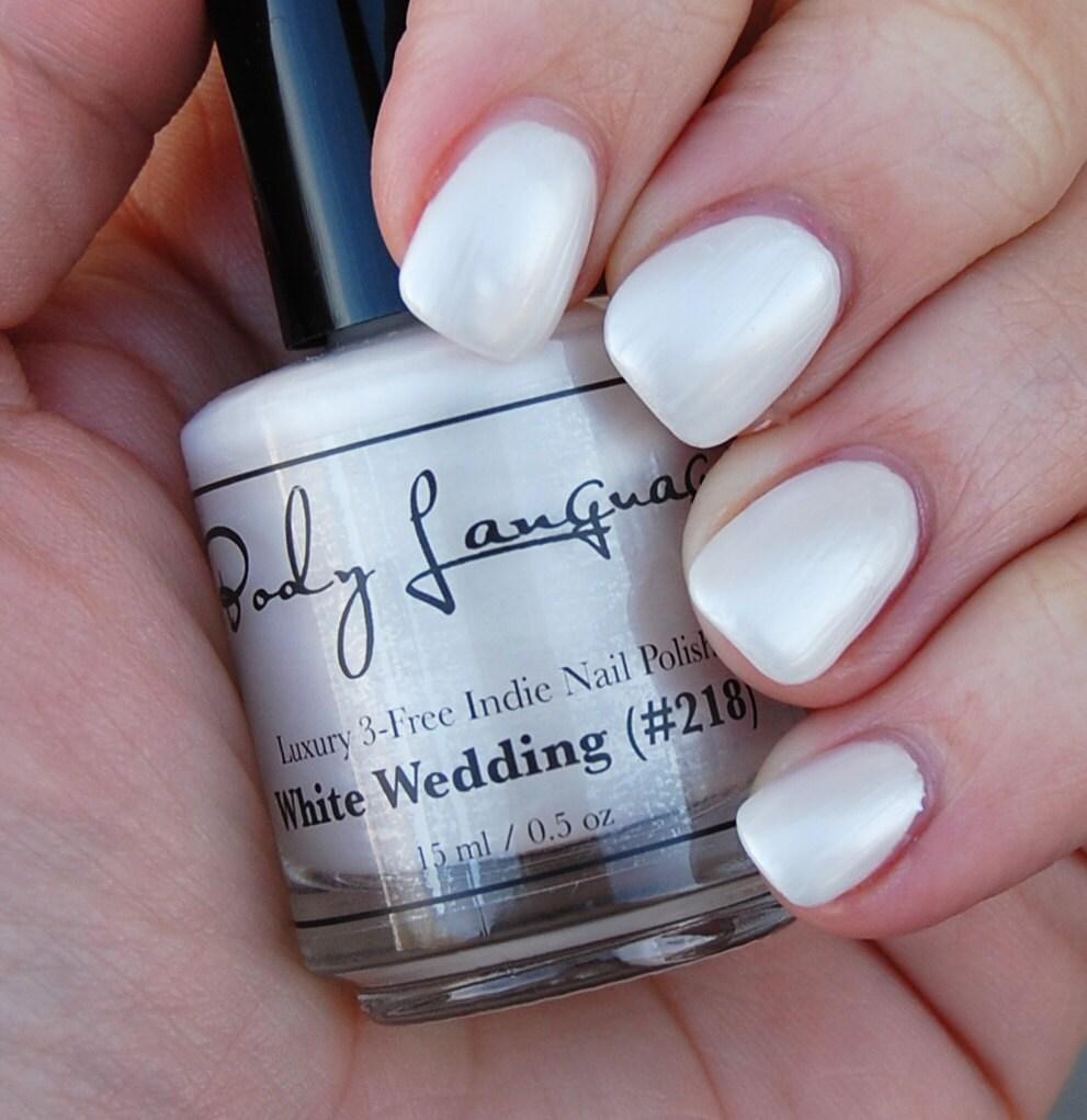 Pearl Nail Polish: Pearl White Nail Polish WHITE WEDDING Nail Polish 218 By