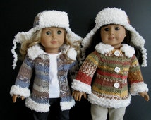 Duck Dynasty A LaRusse Jacket & Hat AG American Girl 18 inch doll Knitting pattern (054)