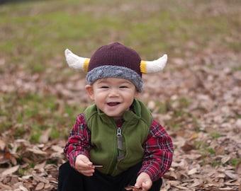 PDF Knitting Pattern- Baby Viking Hat