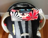 Cute NEW DESIGN Clementine REVERSIBLE Car Seat Handle Arm Pad with Hand Grip