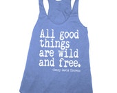 Womens WILD AND FREE Tri-Blend Racerback Tank Top S M L