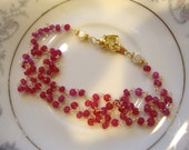 Custom Order for Dee  Hot Pink Ruby links Necklace