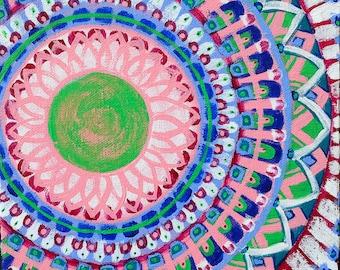 SALE Original Mandala Visionary Spiritual Art Painting: Visions of Marrakesh IV