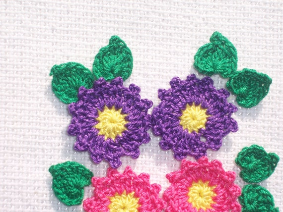 pictures crochet hair styles 6 crochet applique flowers with leaves 1816 from 1816