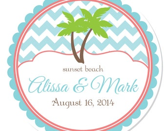 Personalized Labels -- Palm Tree -- Personalized Preserves Labels, Canning Labels, Personalized Labels -- Choice of Size