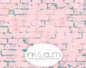 "Pink Brick Backdrop 2ft x 2ft, Vinyl Product Photography Backdrop, Food Photography Prop, Brick Background, Prop, ""Tickle Me Pink Brick"""