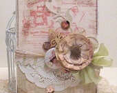 Lovely  vintage - Card and Envelope