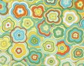 FABRIC SALE, CLOSEOUT,  Jenean Morrison Lovelorn Modern Floral Yellow, Free Spirit Fabrics,  1 Yard