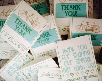 Thank you or Totally Mint Mint Mintbooks - Mint Matchbook Favors - set of 200
