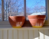 Pair of Rose Pink Bowls that Nest