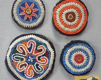 Vintage Tribal Talisman:  Kuchi Beaded Remnant Gul I Peron Patch Set #20