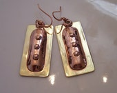 Mixed Metal Contemporary Earrings