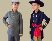BROTHERS, North and South, Set of Two Civil War Costumes, Size 6