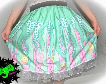 Tentacle Skirt with Swarovski crystals MADE TO ORDER many colors available