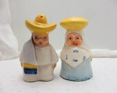 Vintage Mexican Couple Salt and Pepper Shakers