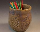 Little Pottery Fairy Vase/ Small Pottery Flower Vase/ Toothpick Holder