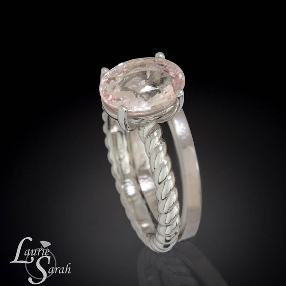 platinum wedding band rope engagement ring by