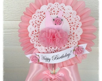 Birthday Decoration Beautiful Shabby Chic Ballet Tutu Wand for Birthday Decoration or Cake Topper Table Decoration
