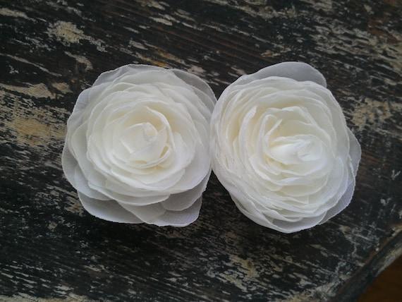Ivory Roses Wedding Hair Flowers