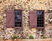 Old Stone Church Window Photography, Clemson SC Print, Historic Church Rustic Art, Brown, Beige  Decor Textured Wall Art 5x7, 8x10, matted