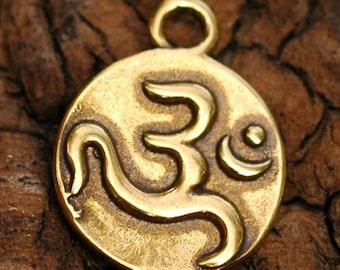 Om Symbol Charm in Golden Bronze -C502