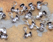 Antique Silver Ball Chain Crimp Connectors - Nunn Designs Pick Your Own Bulk Price