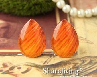 4pcs 18x25mm Handmade Photo Teardrop Glass Cabs Cabochons -- BCH972G