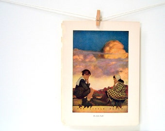 The Little Peach - 1904 Maxfield Parrish Antique Children's Book Illustration