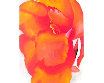 Georgia O'Keeffe Vintage 1987 Print - Red Canna