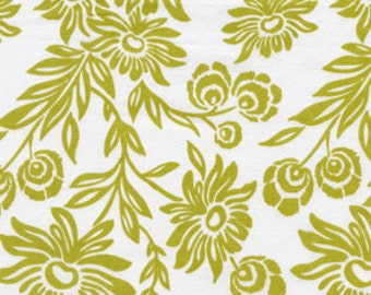 Joel Dewberry Modern Meadow Hand Picked Daisies in Grass jd35-grass - cotton quilt fabric by the yard