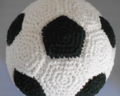 Soft American Soccer Ball European Football Indoor Soccer Ball for Children Crocheted With Black and White Cotton Yarn