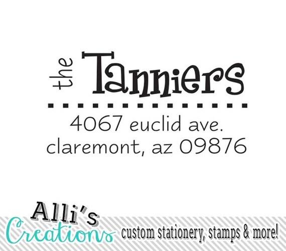 Modern Custom Return Address Stamp Self Inking Stamper