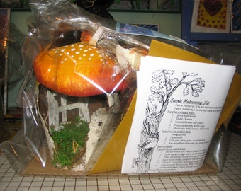Fairy House Kit Made out of Birch Bark Great for Children Holiday Gift or Birthday Parties