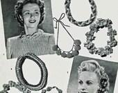 Vintage Delightful Necklets, Crochet Pattern, 1940/50s (PDF) Pattern, Bestway 585