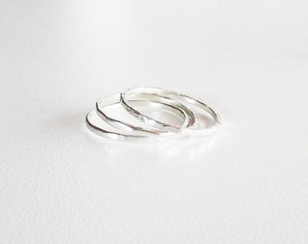 Sterling silver stacking rings set of three,1.3mm 16 gauge 925 sterling silver ring stacking, silver stacking ring, stackable