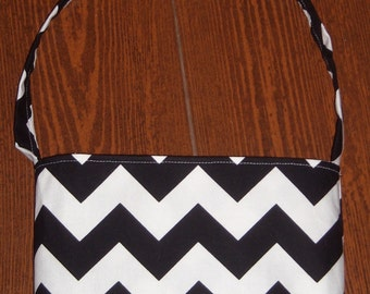 Black Chevron toddler purse
