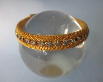 Vintage Mesh Bracelet with Rhinestones
